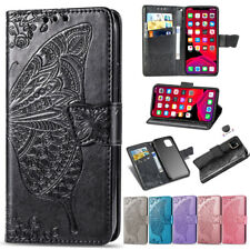 Case For iPhone 11 Pro MAX XR 8 7 Plus Embossed Leather Stand Flip Wallet Cover