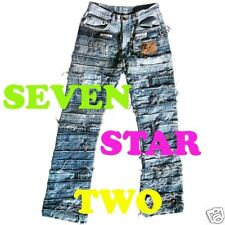 SEVEN STAR TWO Masterpiece Biker Rocker Jeans W/G 28 29 30 31 32 33 34 36 38 40