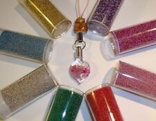 Micro Beads for Rice Vial pendant Tiny glass beads, mini marbles, caviar beads