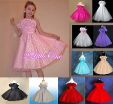 Wedding Flower Girl Pageant Birthday Holiday Party Dresses Up Size 6m-10 FG001