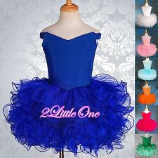 Cup Cake National Pageant Dress Up DIY Shell Party Flower Girl Size 18M-10 PT001