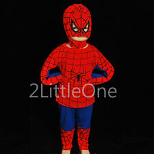 Spiderman Superhero Boy Halloween Fancy Party Costume Toddler Size 3T-8 FC005