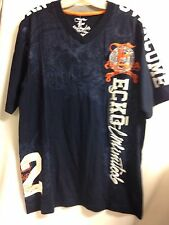 Ecko Unlimited Overcome V-Neck Tee Navy  NWT $38