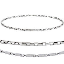 Mens Stainless Steel Necklace Box or Heshe Curb Chain