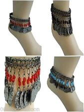 Belly Dance Dancing Costume Anklet Egypt Gypsy Tribal Ethnic Coins & Beads  112