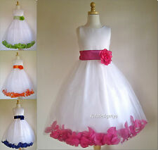 Rose Petals Flower Girl Dress size 2-4-6-8-10-12