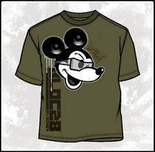 Disney BLOC28 Old Paper Military Mickey Mouse Army Mens Comic Drip T-shirt