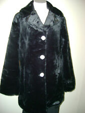 Dennis Basso Sheared Faux Mink Single Breasted 3/4 Coat