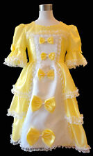 Yellow Victorian Wedding Flower Girl Costume Dress Gown