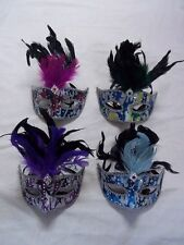 Mask Venetian Mask Masquerade Feathered Mask 4 Multi Colors To Choose From