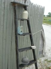 Vintage Wooden 5 Step Ladder Shelf - These Ladders Lean to Make Great Display