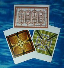New FRANK LLOYD WRIGHT Post Cards: Window, Art Glass, Tile, Grille - 9 Choices!!
