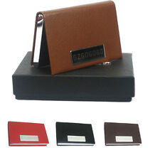 GZGOGOGO Faux Leather Business ID name Credit Card Holder Case Card Box