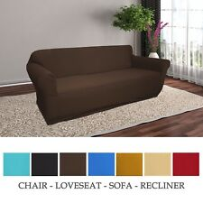JERSEY KNITTED STRETCH SLIPCOVER, CHAIR, LOVE SEAT, SOFA, RECLINER