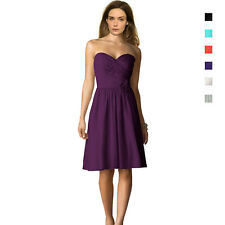 Strapless Short Chiffon Bridesmaids Formal Cocktail Evening Party Dress co0763