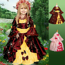Girl Party Princess Costume Vintage Victorian Fancy Occasion Dress Age 2-10y 004
