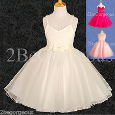Girl Dresses Wedding Flower Girl Bridesmaid Party Holiday Occasion Age 2-12y 050