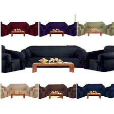 3-PC Luxury Micro Suede New Sofa + Loveseat + Chair Slip Cover Couch 7 Colors