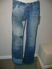 TRUE RELIGION Patchwork Billy Jeans 25 NWT