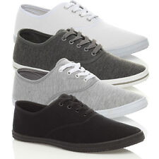 MENS CANVAS TRAINERS PLIMSOLES PLIMSOLLS SHOES LACE UP PUMPS SIZE