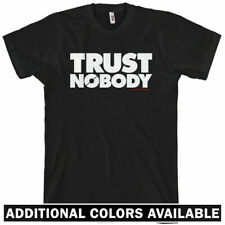 TRUST NOBODY T-shirt - Anarchy Protest Occupy Wall Street Conspiracy - XS-4XL