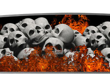 Real Flame Skull Go Kart Race Cart Graphics Decal Wrap Vinyl Racing Graphic