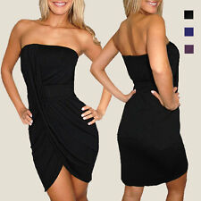 High-low Strapless Drape Evening Party Night Club Dress co9611 Size S M L