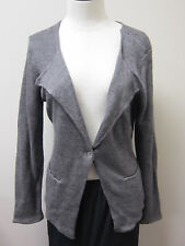 Eileen Fisher Double Layer Linen Delave Open Neck Jacket Cardigan Dapple NWT