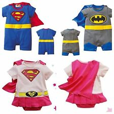 BOYS BABY GRO/ROMPER SUIT FUNKY SUPERMAN/BATMAN FANCY DRESS COSTUME OUTFIT gift
