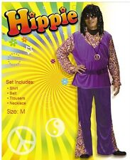Gents Funky Hippie Fancy Dress Costume Mens Party Stag Do outfit,70s hippy theme