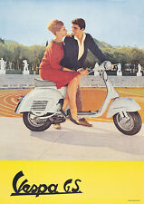 Vespa GS 160 1950's Classic Scooter  Picture Poster Print A1 3 variations
