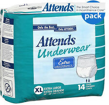 ATTENDS EXTRA ABOSORBANCY Pull on Disposable Underwear Pant Incontinence AP0