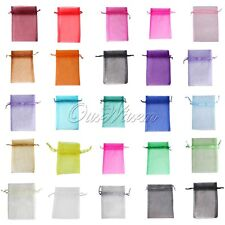 "50 Strong Sheer Organza Pouch 4x6"" 10x15cm Wedding Favor Jewelry Gift Candy Bags"