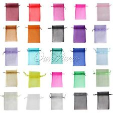 """100 Strong Sheer Organza Pouch 4x6"""" 10x15cm Wedding Favor Gift Candy Bag Colors"""