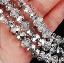Wholesale white Faceted Swarovski Crystal Loose Beads 3x4mm--8x10mm