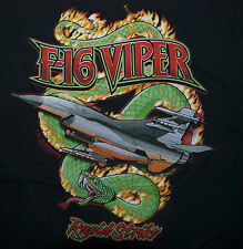US AIR FORCE F16 VIPER FALCON T-SHIRT FIGHTER JET