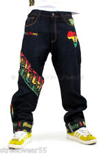 One Love Rasta Raw Time Turn Up Jeans Hip Hop Loose Fit by is Dirty Money ®