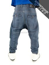 Streetwear Premium Extra Drop Crotch Carrot Cuffed Jeans Time is Hip Hop Money