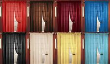 SHEER VOILE WINDOW CURTAIN PANEL, 20 COLORS, GREAT QUALITY SHEER CURTAIN - 55X84