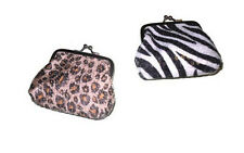 GIRLS / LADIES SEQUIN COINS PURSE ANIMAL PRINT WALLETS/PURSES NEW