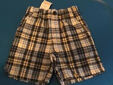 Gymboree NWT Construction Crew Pull On Plaid Short