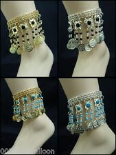 belly dance anklet costume coins ankel egyptian gypsy ethnic jewelry tribal 112
