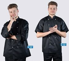 Quality Black Chef Jackets - See Handy Chef Store for Chef pants, Aprons, Caps.,