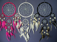 DREAM CATCHER COWRIE SHELL SILVER WEB dreamcatcher LOTS OF COLOURS FAST POSTAGE