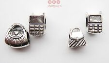 Genuine 925 Sterling Silver Rhona Sutton Charm Beads. Handbag and Mobile Phone.