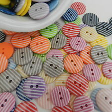 5 stripey round buttons 15mm 19mm or 23mm loads of colours