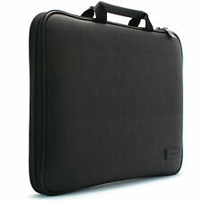 "7"" - 17"" Laptop Notebook Case Sleeve M-Foam Protect Bag Synthetic leather Black"
