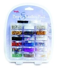 Craft Factory Value Bead Pack for Craft/Jewellery 18 Cavity Set