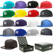 NEW ERA 59FIFTY FITTED CAP NEW YORK YANKEES NY MLB BASIC 5950 HAT (ALL COLOURS)