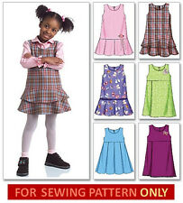 SEWING PATTERN MAKES GIRL JUMPERS! SIZES TODDLER 1~CHILD 6! EASY TO DO! 6 STYLES